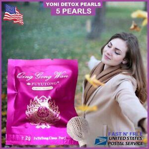 Confezione-da-5-Yoni-Detox-Perle-gli-assorbenti-a-base-di-erbe-naturali-grembo-guarigione-pulizia