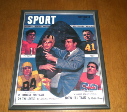 1946 SPORT NOTRE DAME LUJACK /& LEAHY COVER FRAMED PRINT