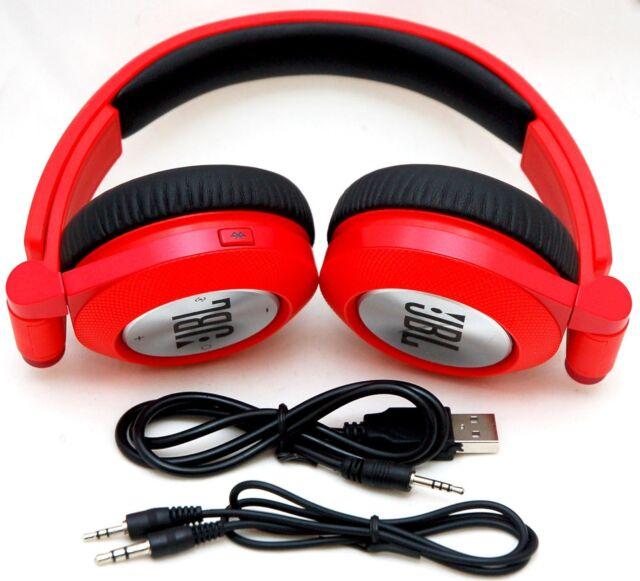ca39026d8b2 JBL E40BT RED Synchros Bluetooth Folding Stereo Headphones w/Mic iPhone  6+/5s