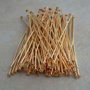 gold-plated-headpins-2-inch-21-gauge