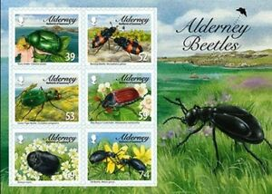 Alderney-Aurigny-2013-insectes-scarabees-bloc-neuf-1er-choix