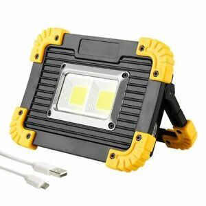 Portable-chip-on-board-DEL-travail-lumiere-exterieure-Projecteur-Tente-Lampe-rechargeable-USB