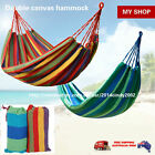 Colourful Cotton Canvas Hammock Air Chair Hanging Swinging Camping Outdoor