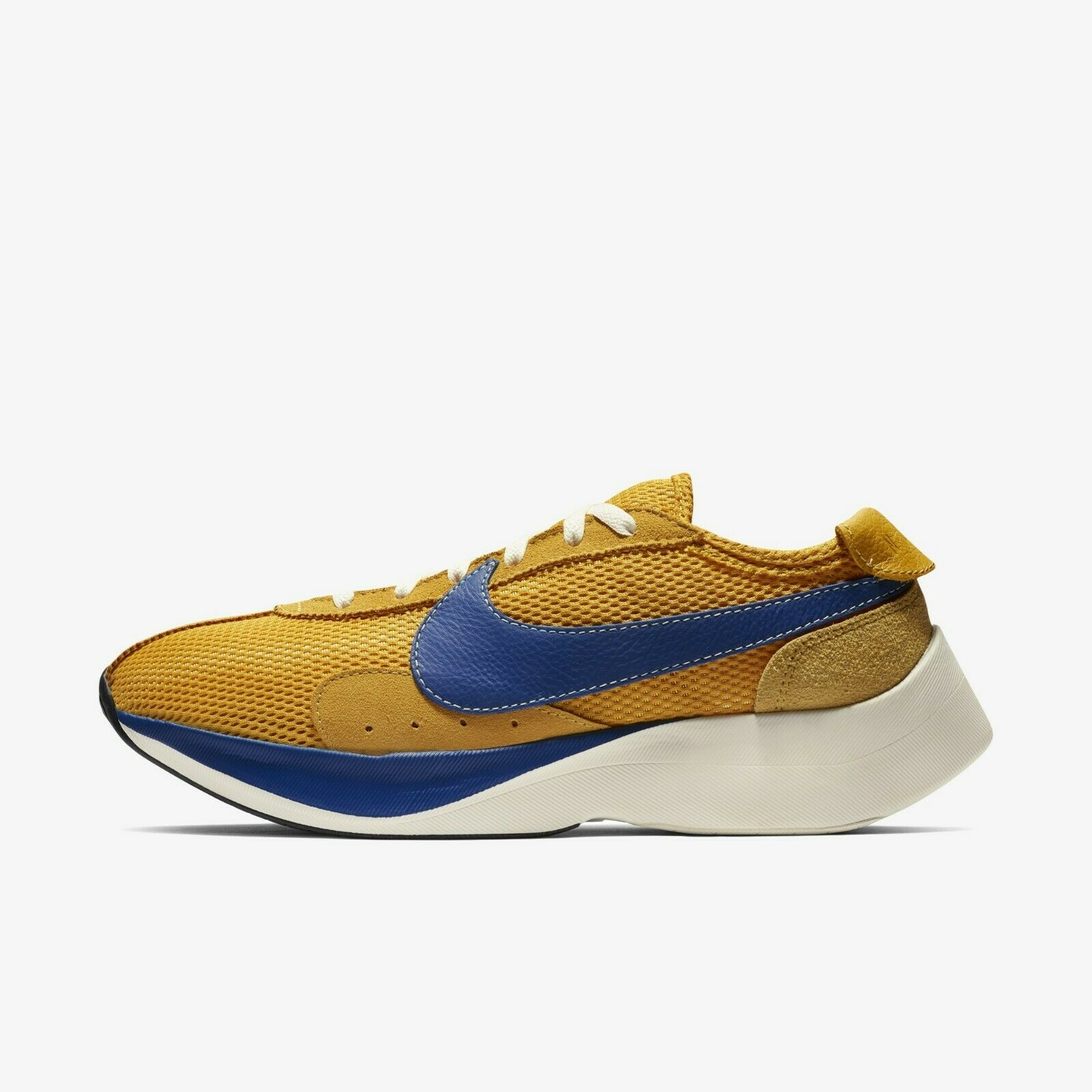 New Nike Men's Moon Racer Athletic shoes- Yellow Oaker Gym bluee Sail(BV7779-700)