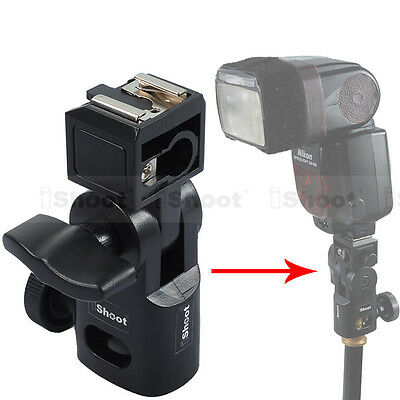 Hot Shoe Mount Flash Bracket/Umbrella Holder for Canon Nikon Pentax Olympus