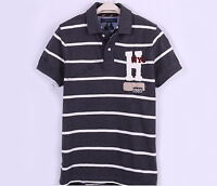 NEW TOMMY HILFIGER MEN H PIN STRIPE PIQUE MESH RUGBY POLO SHIRT - $0 SHIPPING