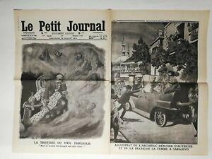 N225-La-Une-Du-Journal-Le-petit-journal-12-juillet-1914-tristesse-Veil-empereur