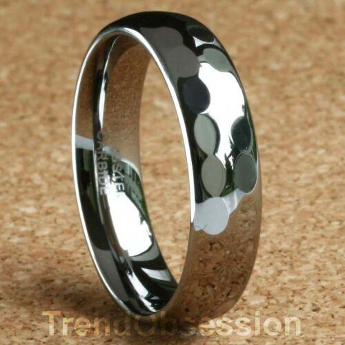Tungsten Carbide Ring Mens Wedding Band Size 9.5