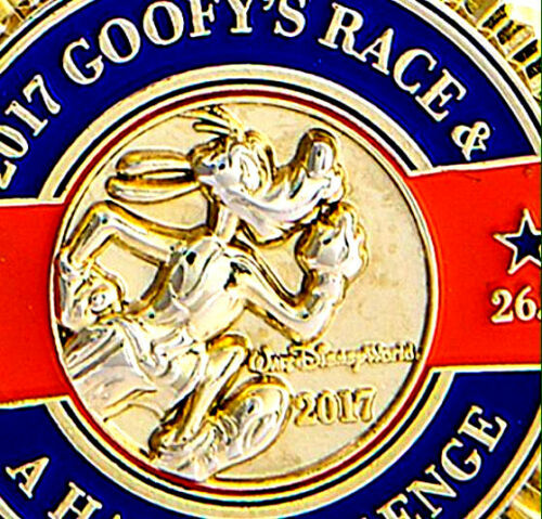 Disney Pins 2017 Walt World Marathon Goofy's Challenge Race RunDisney Medal Pin