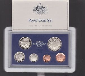1983-Australia-Proof-Coin-Set-in-Acrylic-Case-Foams-amp-Certificate-has-scarce-20