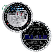 Police Blue Lives Matter Challenge Coin Law Enforcement Shiny Armor Collectible