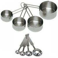 Update International 8piece Deluxe Stainless Steel Measuring Cup And Measuring on sale