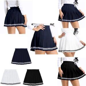 fcf27c3768 Image is loading Womens-Girls-Mini-Pleated-Skirts-Gymnastics-Tennis-Sports-