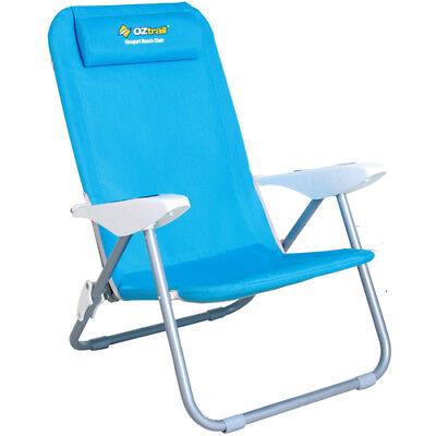 OZTRAIL NEWPORT CHAIR Recliner Beach Chair Picnic Camping Pool Camp