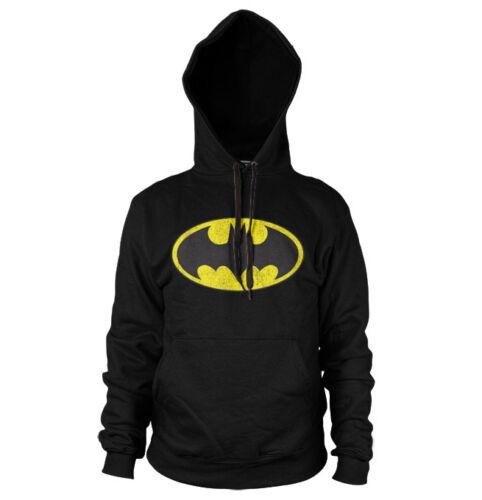 Licence officielle Batman Distressed Logo Sweat à Capuche S-XXL tailles