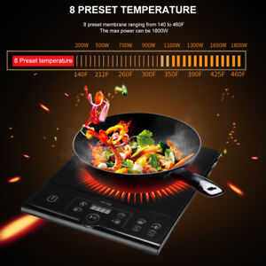 New 1800W Portable Induction Countertop Burner, push button Controller