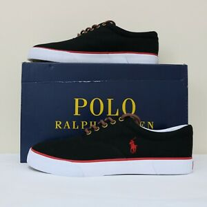 Low Top Lauren Men New Shoes 510 Canvas 9 With Ralph Box Sneaker Polo Details 5 Size About drhxtCsQ