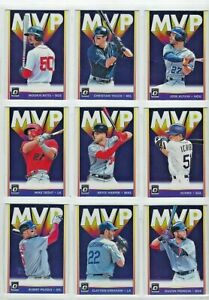 2019 PANINI DONRUSS BASEBALL  MVP  INSERTS COMPLETE YOUR SET!