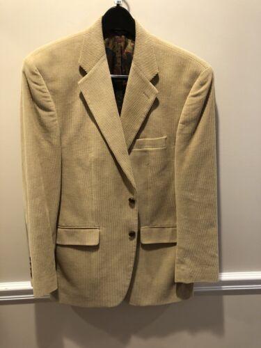 Ralp Lauren Mens Beige  Corduroy Blazer Size 38R O