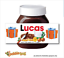 thumbnail 17 - CHRISTMAS Personalised fits Nut Chocolate Spread Jar LABEL Sticker Gift XMAS