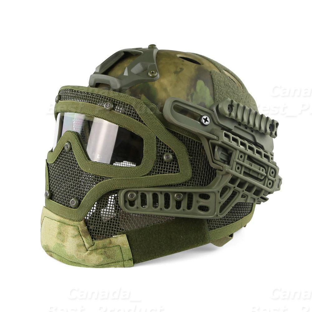 Sistema táctico de projoección Googles G4 Full Face Mask Casco Molle Paintball atfg