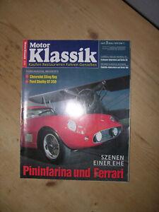 Autozeitschrift Motor Klassik Chevrolet Sting Ray Ford Shelby Gt 350 Ferrari Ebay