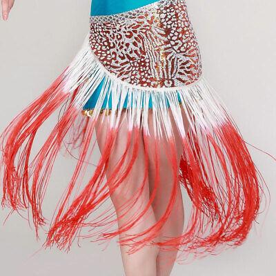 C319 Danza Del Ventre Costume Hüfttuch Cintura Gonna Con Frange-