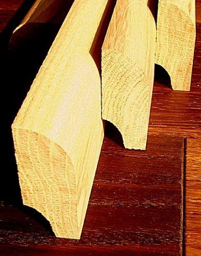 Fußleisten Sockelleiste Eiche Rustikal 20x50 mm fertig naturgeölt Profil Radius