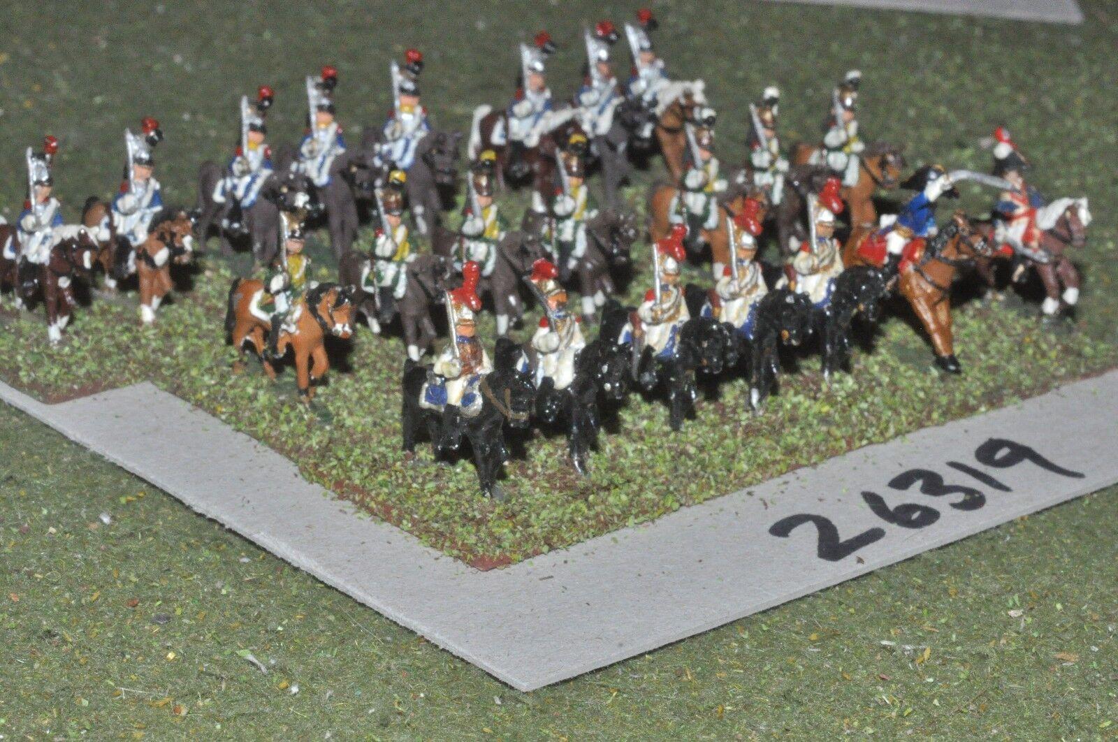 15mm napoleonic   french - heavy mixed 22 figures - cav (26319)