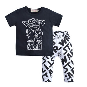 NWT-Star-Wars-039-Yo-da-Man-039-Baby-Boy-Short-Sleeve-Shirt-amp-Pants-Outfit-Set