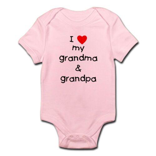 57198987 CafePress I Love My Grandma /& Grandpa Infant Bodysuit Baby Bodysuit