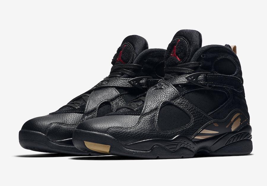 Nike MEN'S Jordan 8 Retro OVO DRAKE Black bluee Metallic gold SIZE 10.5 BRAND NEW