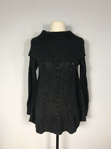 Smartwool Dark Gray Merino Wool Blend Crestone Tunic Sweater Women's S