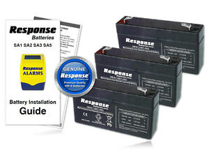 Response-Alarms-HW10-WP1-6v-1-2Ah-SA3-Panel-amp-Siren-GENUINE-Response-Battery-KIT