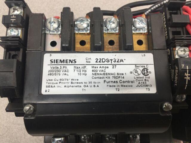 Siemens 14DS32A NEMA Size 1 Starter