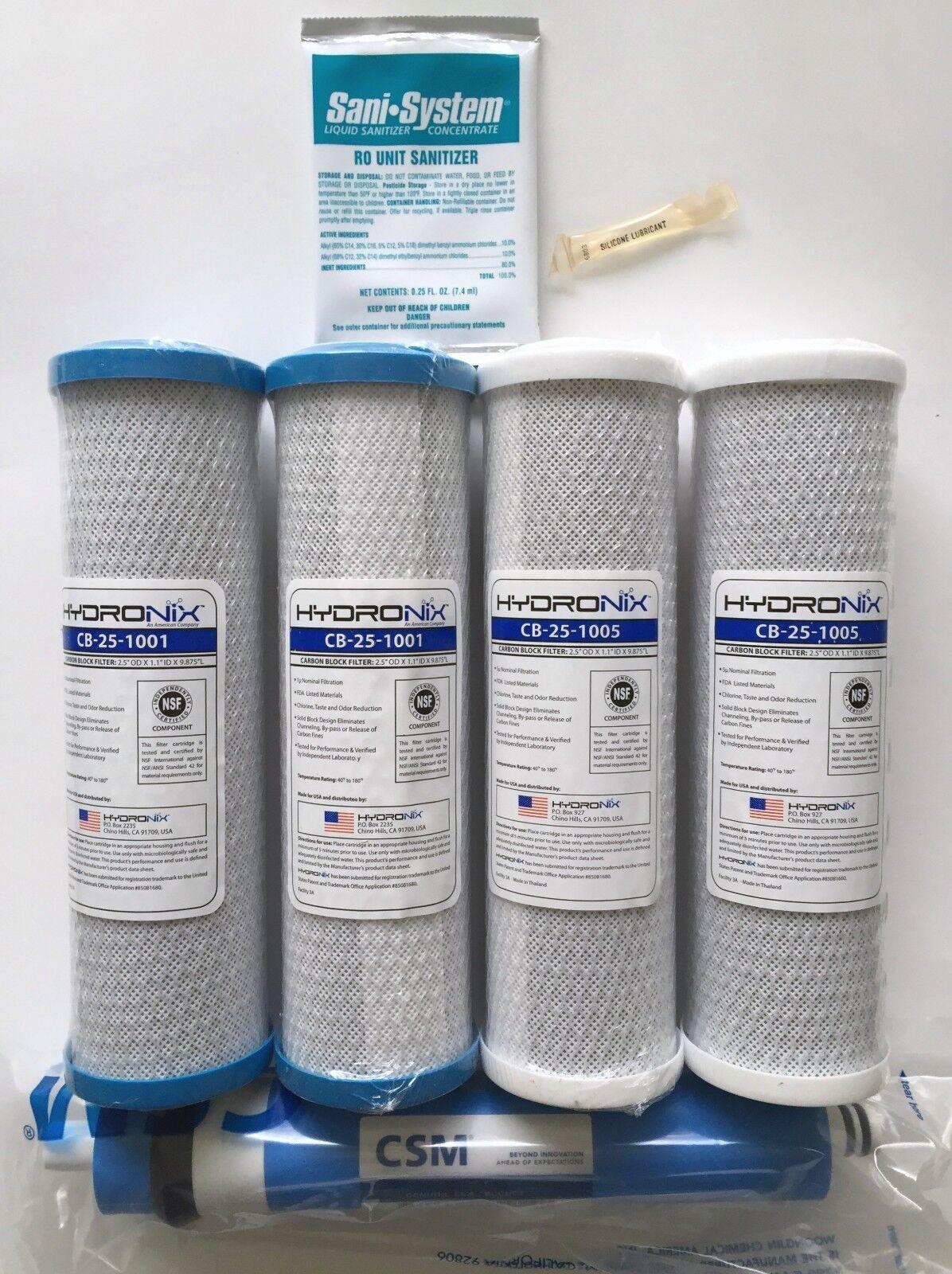 GE SMART WATER RO GXRM10G PRE & POST FILTERS 50 GPD GE FXWTX GE FX12P GE FX12M