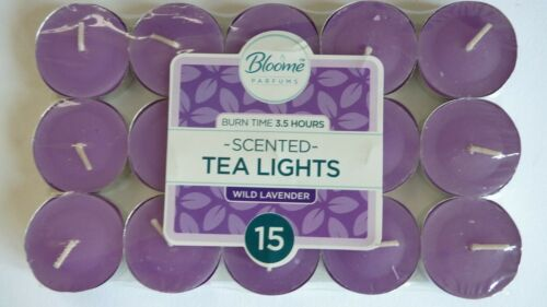 Scented Tea Light Candles x 15 Five Fragrances To Choose From