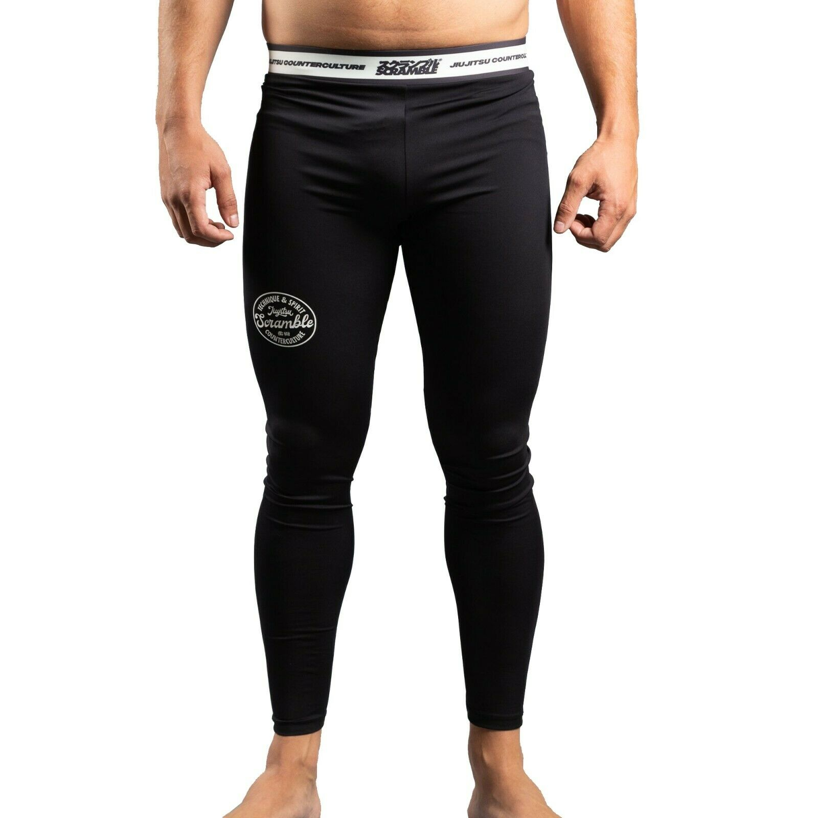 Scramble Nero Ghette V4 Collant No Gi Jiu Jitsu Brasiliano Grappling Mma Bjj