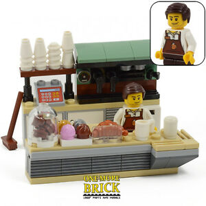 Lego Coffee Shop Amp Minifigure Cafe Food Shop Bakery