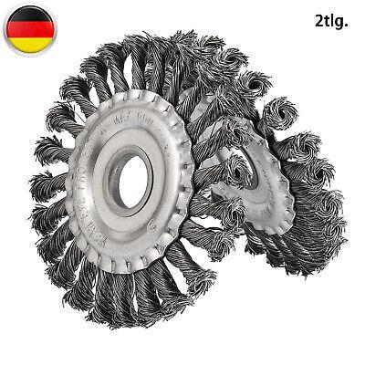 2x Drahtbürste Für Winkelschleifer Ø 125mm Scheibenbürste Gezopft Bohrung 22,2mm
