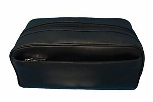 10517c5c6add Coach Leather Travel Kit Toiletry Shave Bag NWT  175 Black F58542 ...