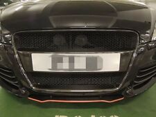 "FOR AUDI 06-10 CARBON FIBER TT 8J MK2 ""O"" Style FRONT MESH GRILL GRILLE"