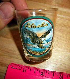 Alaska-Collector-Shotglass-Bald-Eagle-New-Nice-Alaska-Collectible-shot-glass