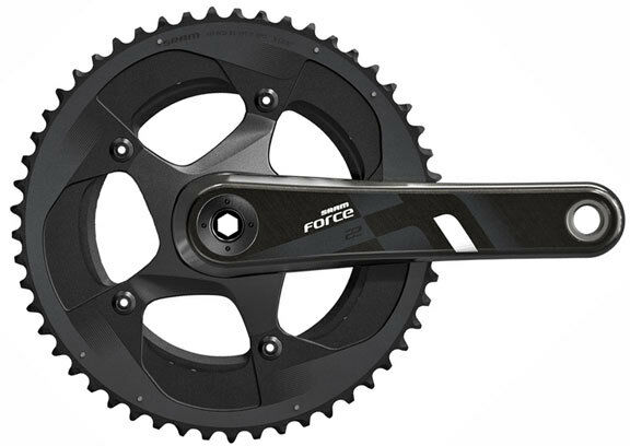 SRAM Force 22 2x11 Speed Carbon Road Bike BB386 Crankset 34 50 x 165mm