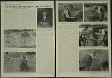Frank Leonard West Master Thatcher Haughurst Hampshire 1960 4 Page Photo Article