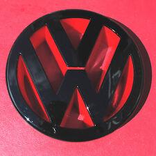 Golf VW Front Bumper Badge Grille MK5 GTI TDI R32 Badge Emblem Black RED GLOSS
