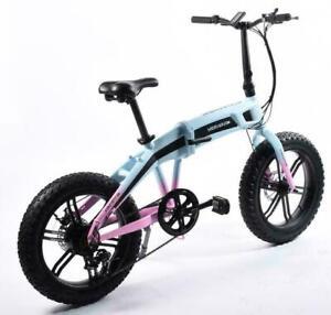 500W – 20'' Fat Tire Folding eBike (eFold Fatty500 by Merkava). Foldable 20'' Fat Tire Electric Bicycle, Fat Tire eBik Canada Preview