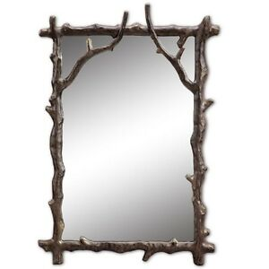 Image Is Loading Branch Decorative Wall Mirror Rustic Cabin Lodge Decor