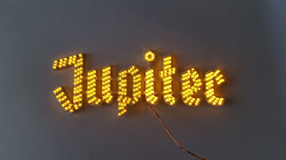 Neon sign for jupiter faller 140470 h0 kirmes Beleuchtung
