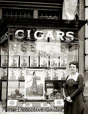 Cigar Store With Wwi Victory Garden Display Wash Dc Historic